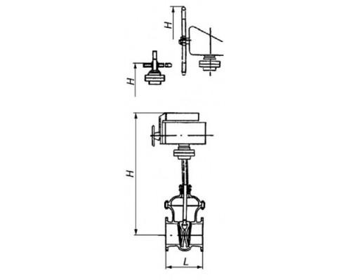Задвижка МА11024-02  стальная литая клиновая