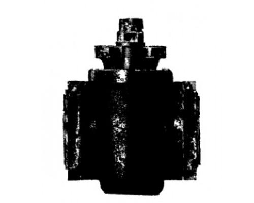 Кран пробковый проходной сальниковый чугунный фаолитированный фланцевый 11ч15п