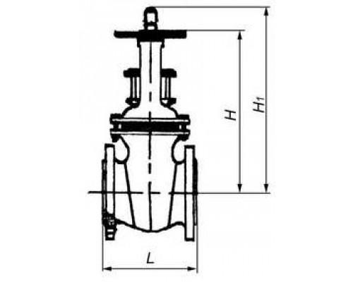 Задвижка 30ч73бр клиновая чугунная с выдвижным шпинделем фланцевая с латунным или чугунным уплотнением