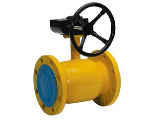 Шаровой стальной кран для газа Broen Ballomax КШГ 71.103 фланец/фланец с редуктором, Ру 16