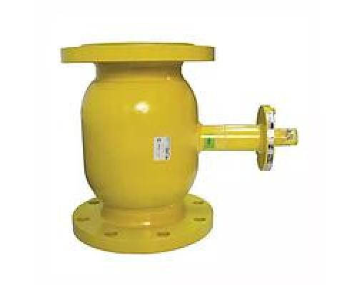 Шаровой стальной кран для газа Broen Ballomax КШГ 71.103 фланец/фланец с ИСО-фланцем, Ру 16