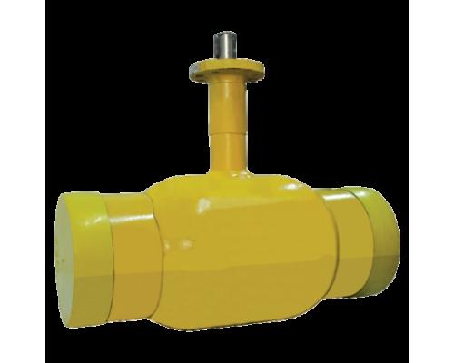 Шаровой стальной кран для газа Broen Ballomax КШГ 71.102 сварка/сварка с ИСО-фланцем, Ру 16