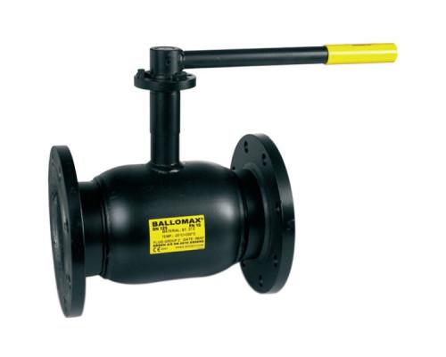 Шаровой стальной кран полнопроходной для газа Broen Ballomax КШГ 70.113 фланец/фланец с рукояткой, Ру 16