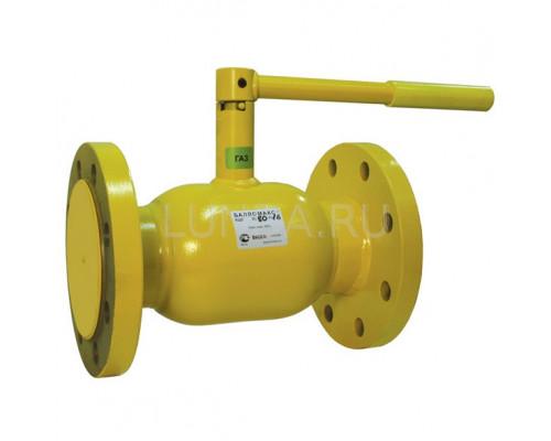 Шаровой стальной кран для газа Broen Ballomax КШГ 70.103 фланец/фланец с рукояткой, Ру 16