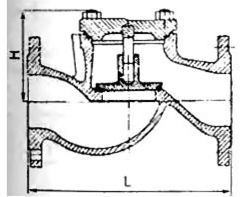 Клапан обратный подъёмный фланцевый 16нж10нж