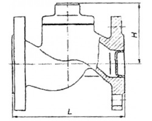 Клапан обратный подъёмный фланцевый 16ч3бр