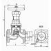 Клапан, вентиль 15кч12п запорный фланцевый из ковкого чугуна