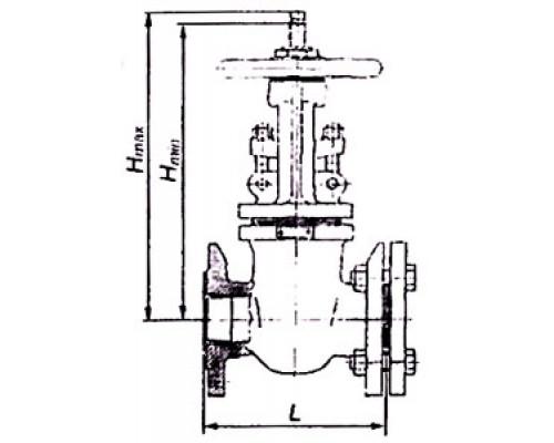 Задвижка параллельная чугунная двухдисковая с выдвижным шпинделем фланцевая 30ч7бк