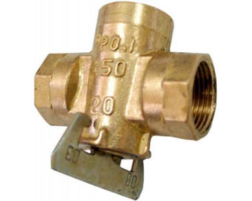 Кран пробковый 11Б34бк конусный латунный газовый