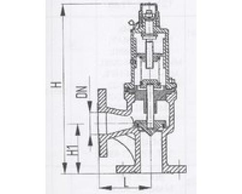 Клапаны предохранительные фланцевые угловые 524-03.239-07, Ру 4-6,5