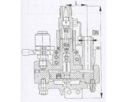 Клапаны редукционные штуцерные угловые односедельные 525-35.2323