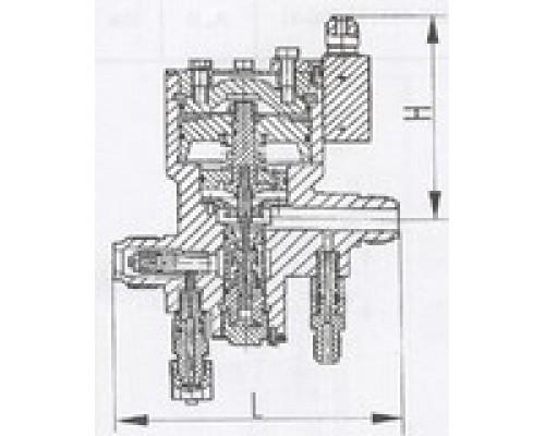 Клапаны редукционные штуцерные проходные односедельные 525-03.044-01