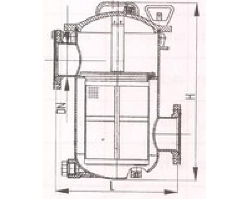 Фильтры пресной воды, масла и топлива фланцевые проходные 427-03.164-2