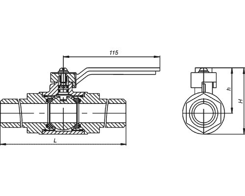 Краны шаровые под приварку КШ 32.40.4110 DN32, Ру4