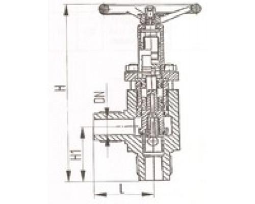 Клапаны запорные штуцерные угловые для высоких давлений 521-35.3200-01