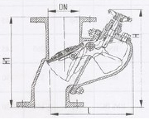 Захлопки путевые фланцевые вертикальные 529-35.1407-01, Ру 6,3