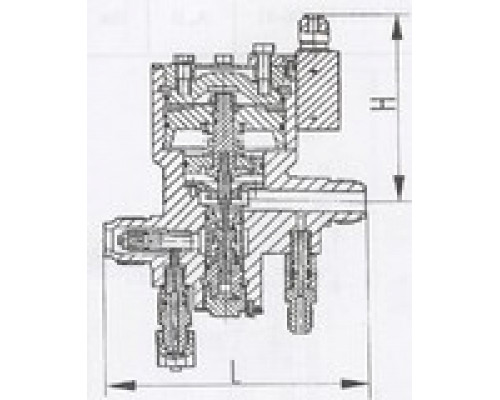 Клапаны редукционные штуцерные проходные односедельные 525-03.043-01
