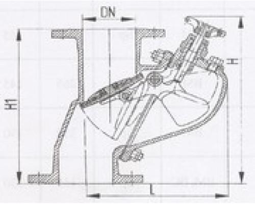 Захлопки путевые фланцевые вертикальные 529-35.1404-01, Ру 6,3