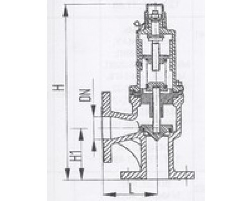 Клапаны предохранительные фланцевые угловые 524-03.239-03, Ру 6,5-10