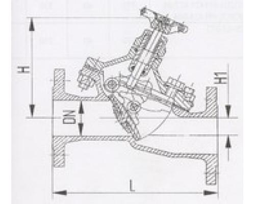 Захлопки путевые фланцевые горизонтальные 529-35.1400-01, Ру 6,3
