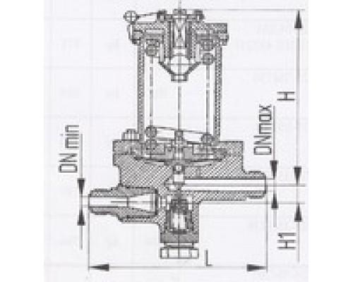 Клапаны редукционные штуцерные проходные 525-03.037