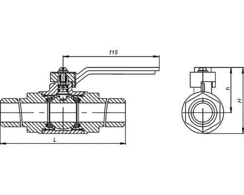 Краны шаровые под приварку КШ 40.25.4110 DN40, Ру2,5