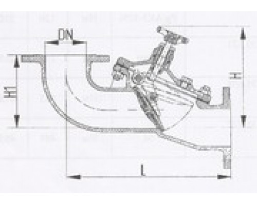 Захлопки путевые фланцевые угловые 529-35.1408-01, Ру 6,3
