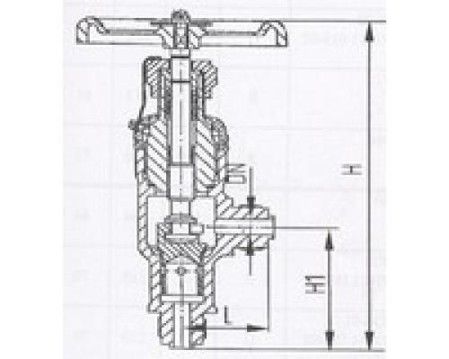 Клапаны дроссельные штуцерные угловые сальниковые 525-35.2727-01