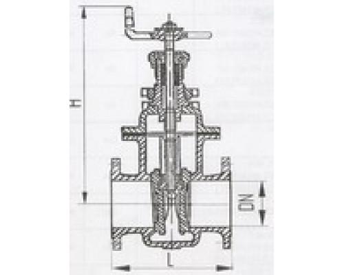 Задвижки клинкетные фланцевые двухдисковые 532-01.007-01, Ру 6